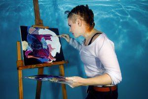 Unterwasser Fotoshooting – Gemälde von Bianca Ott