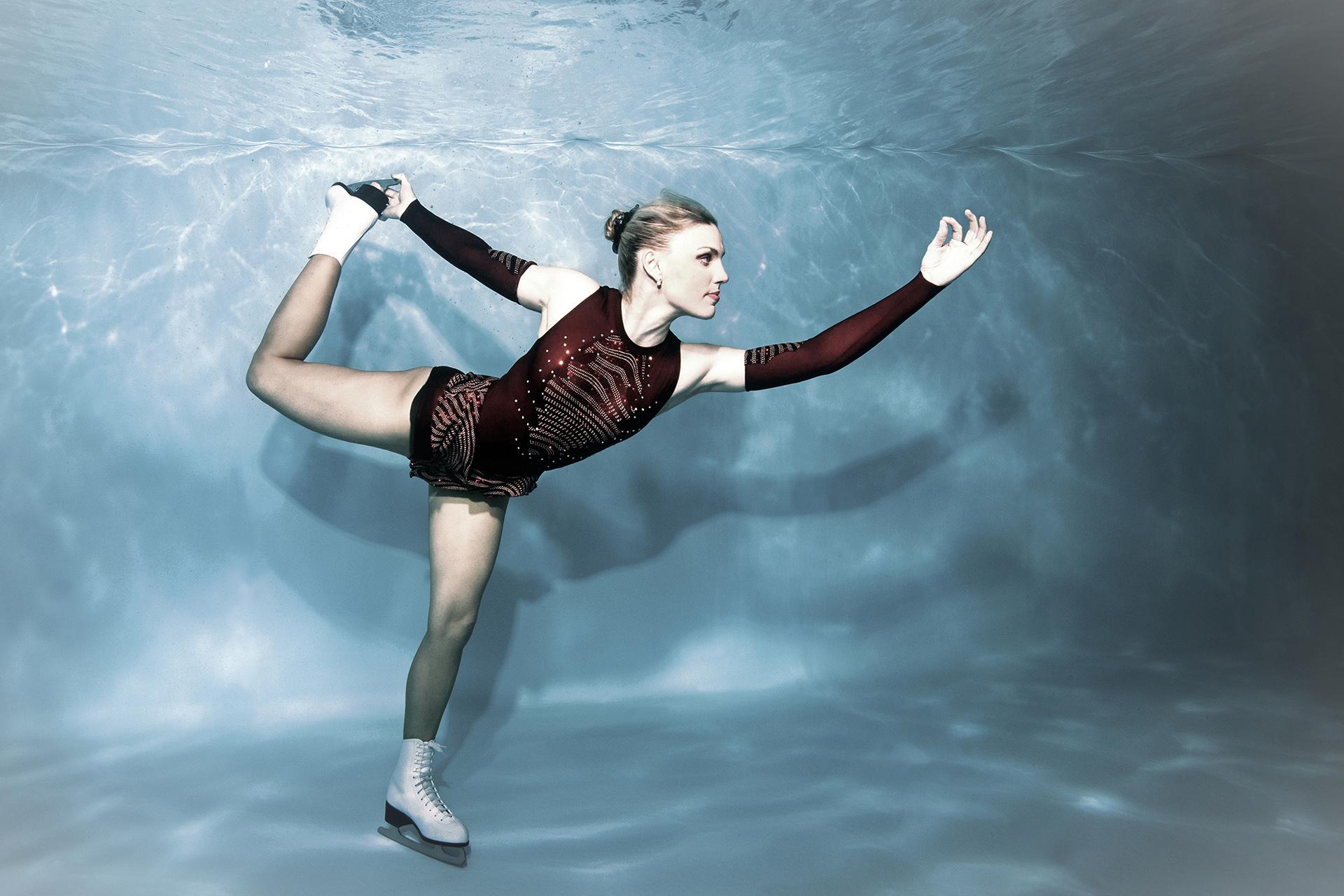 Wintersportfotos unter Wasser mit Marina