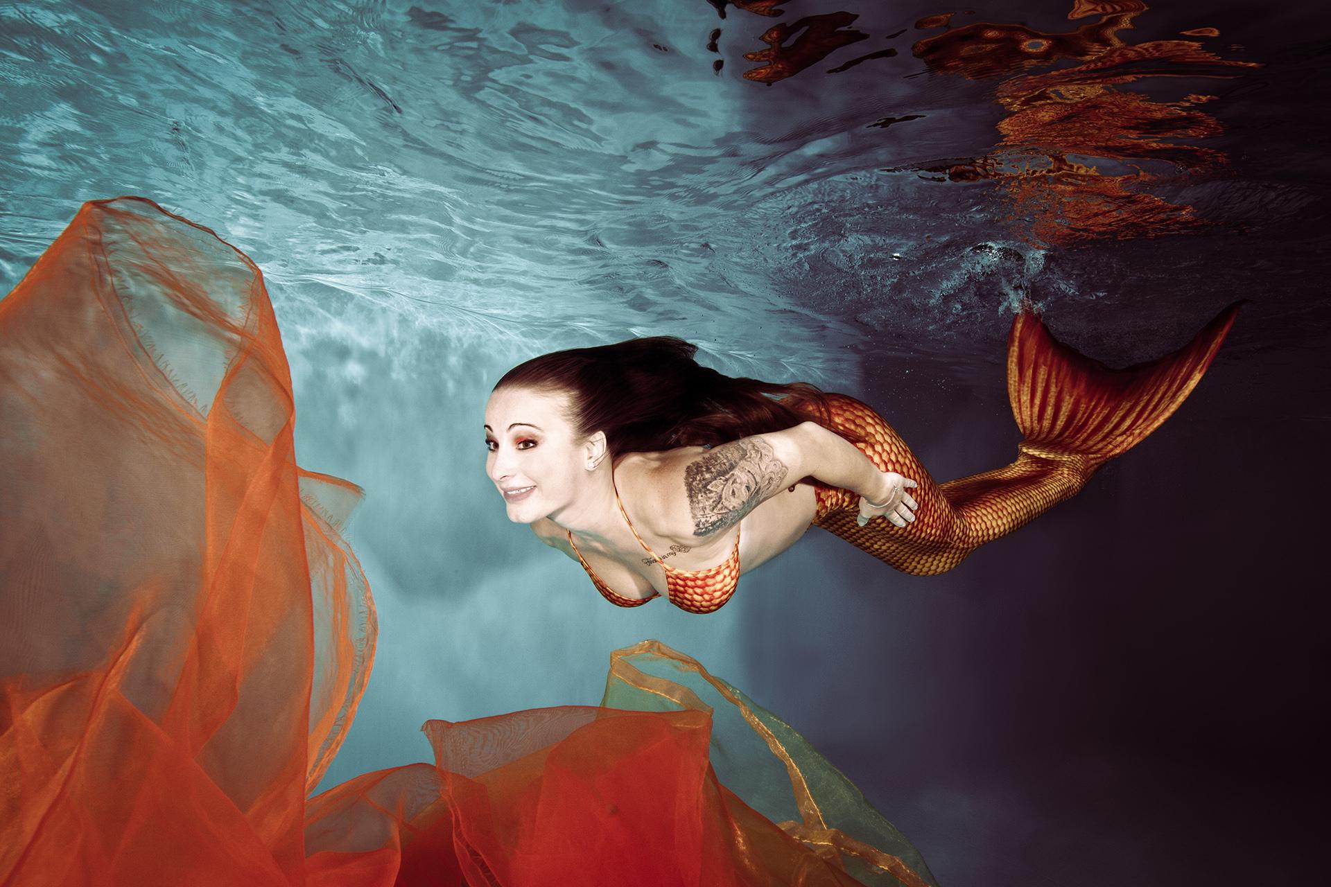 Meerjungfrauen UW-Shooting Celine