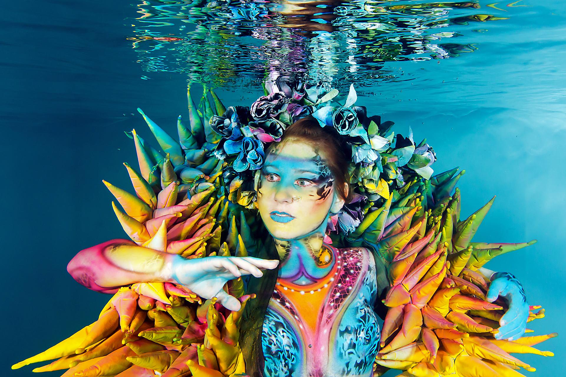 Unterwasser Bodypainting Shooting